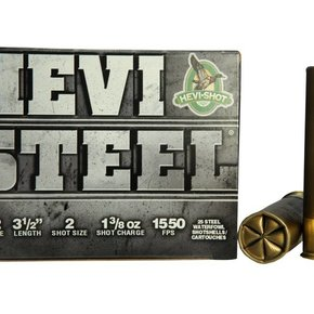 "Hevi-Shot 12 Gauge Waterfoul 3 1/2"" #2 Steel Box Of 25"