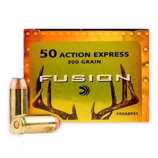 Federal Ammunition Federal Fusion 50 Action Express 300 Grain Jacketed Hollow Point Box of 20