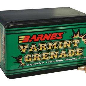 Barnes Varmint Grenade Bullets 22 Caliber (224 Diameter) 36 Grain Hollow Point Lead-Free