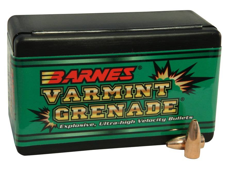 Barnes Varmint Grenade Bullets 22 Hornet (224 Diameter) 30 Grain Hollow Point Lead-Free