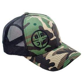 BRCC - TRUCKER HAT - CAMO WITH BLACK MESH