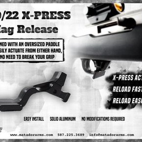 Matador Arms Corp X-PRESS - RUGER 10/22 MAGAZINE RELEASE
