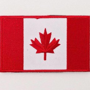Black Bear Gear Black Bear Gear Embroidered Canada Flag Patch with Velcro