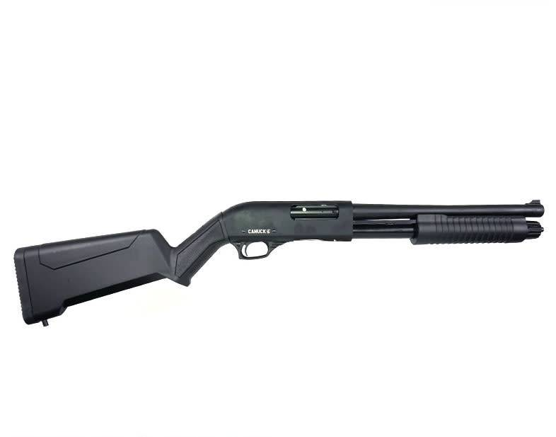 "Canuck Canuck Regulator/Defender Pump Shotgun Combo, Synthetic - 12GA, 2-3/4"" or 3"", 14"" Barrel, 5 Shot"