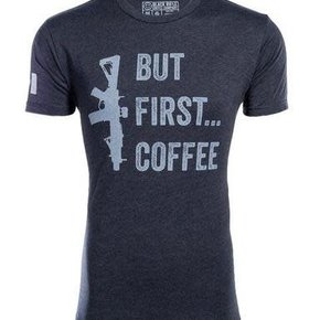 BRCC BUT FIRST COFFEE SHIRT - Large