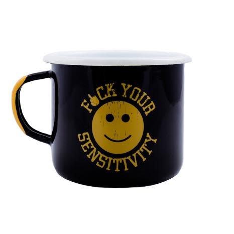 Black Rifle Coffee BRCC F*CK YOUR SENSITIVITY ENAMEL MUG