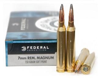Federal 7mm Rem. Magnum 150gr SP