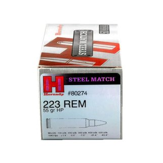 Hornady Hornady Steel Match 223 Remington 55 Grain HP Box Of 50