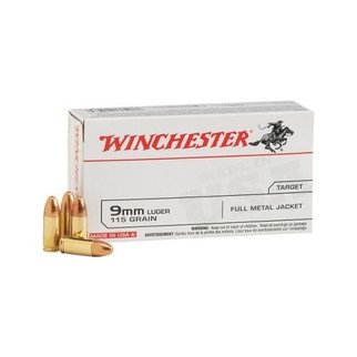 Winchester Winchester 9mm 115g FMJ 50 Rounds