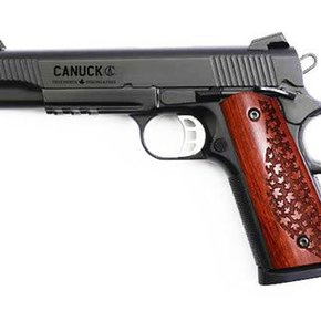 "Canuck SALE! Canuck 1911 Semi-Auto Pistol, 9mm, Blued, 5"" Barrel, Single Action, 9 Rounds"