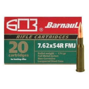 Barnaul Barnaul 7.62x54R FMJ 174g Box of 20