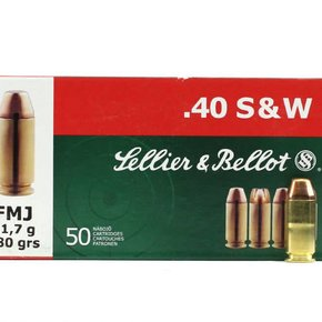 Sellier & Bellot Sellier & Bellot 40 S&W 180 Grain Full Metal Jacket 1000 Rounds