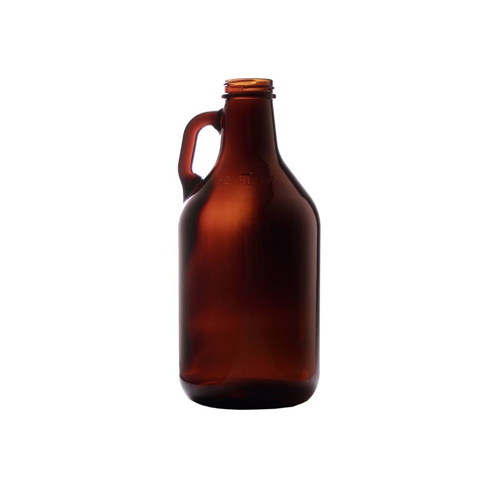 1/4 Gallon 32oz Amber Jug \ Growler (Single) 1/4ajs