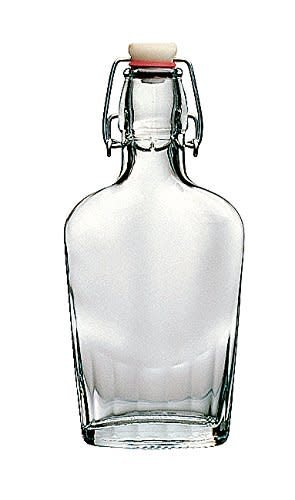 17oz Glass Flask Fliptop Each