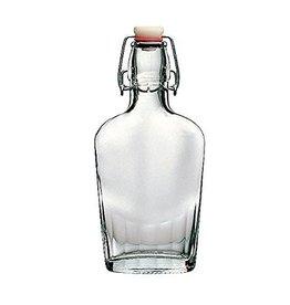 17oz Glass Flask Fliptop Each