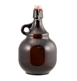 2 L Amber Flip-Top Palla Growlers - Case of 6