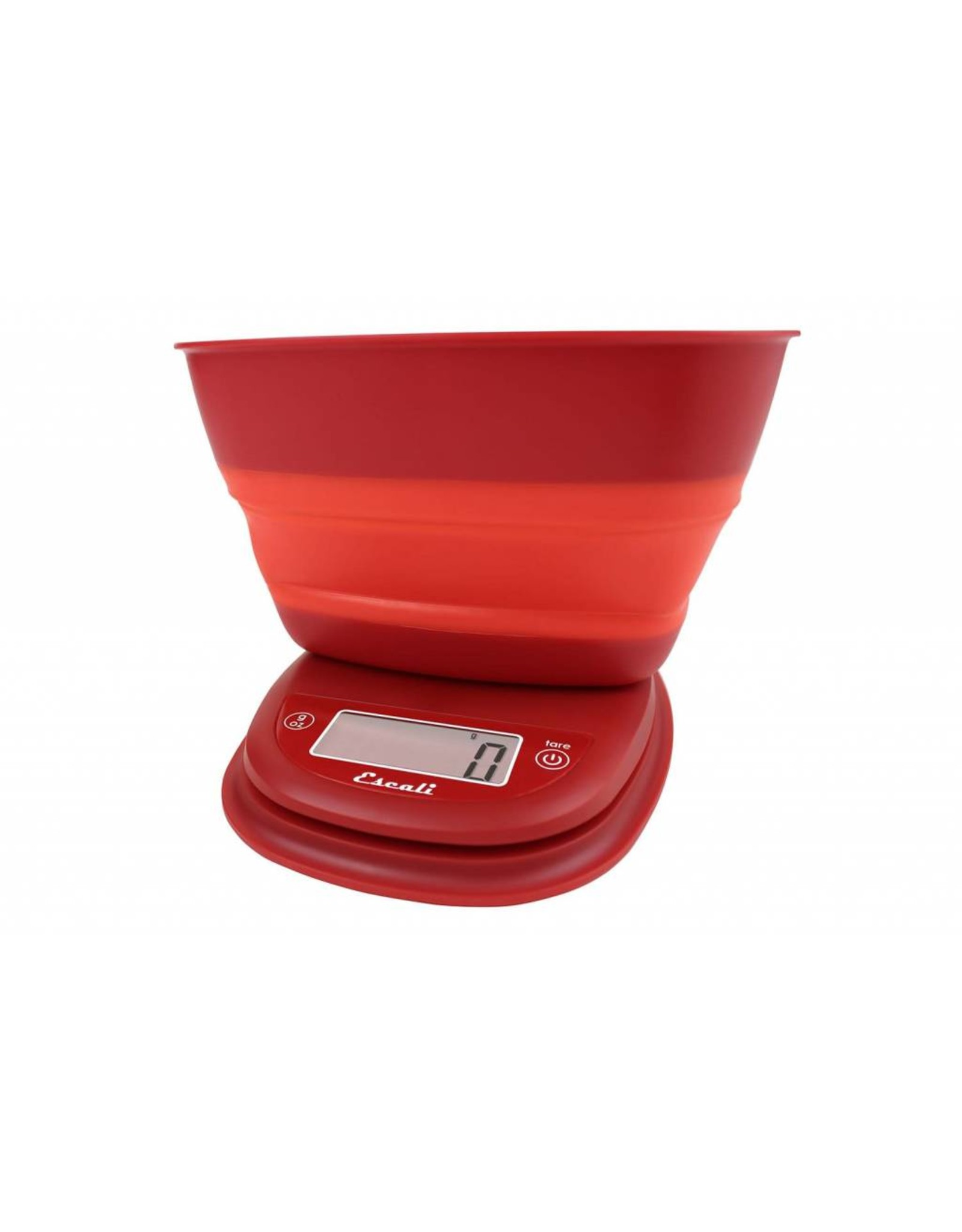 Pop Collapsible Bowl Digital Scale - Poppy Red