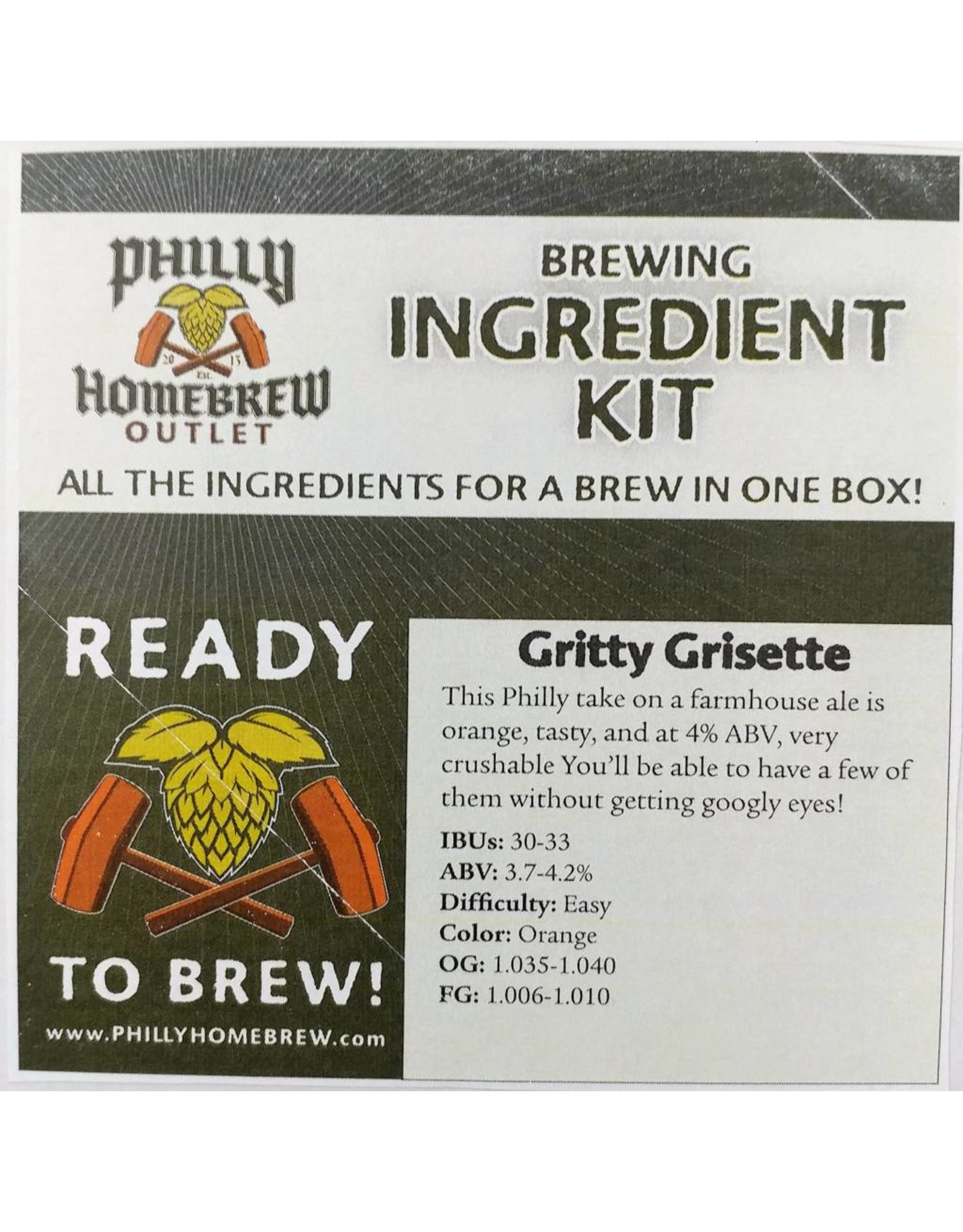 PHO PHO Gritty's Grisette (Extract Kit)