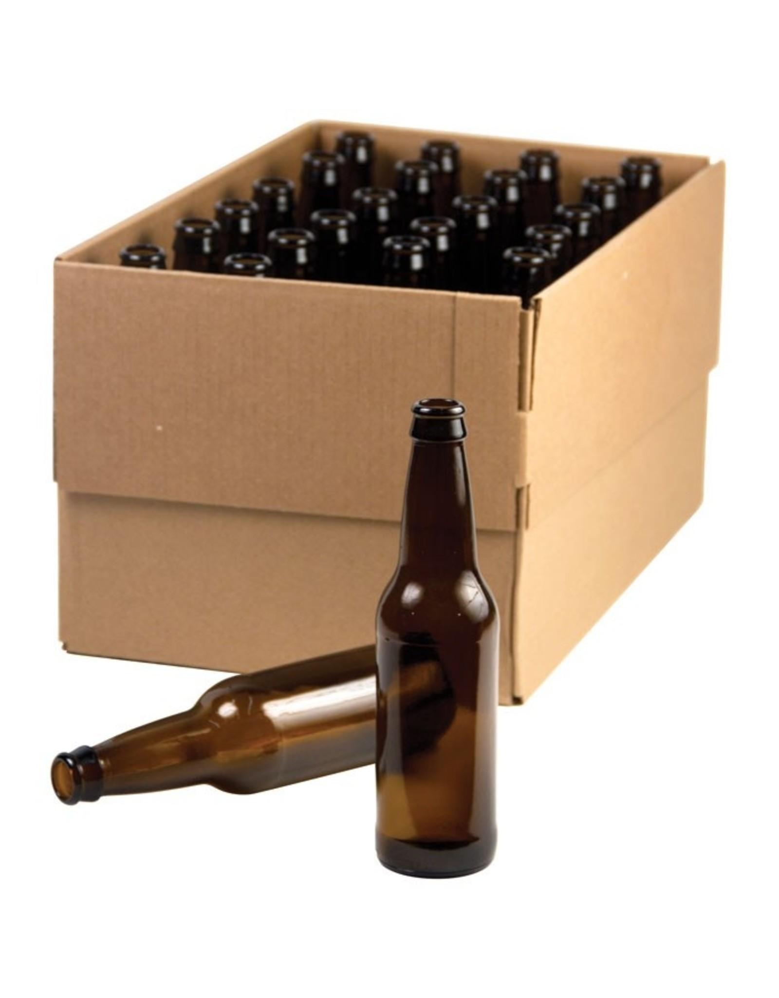 12 Oz Amber Beer Bottles Case 12oz