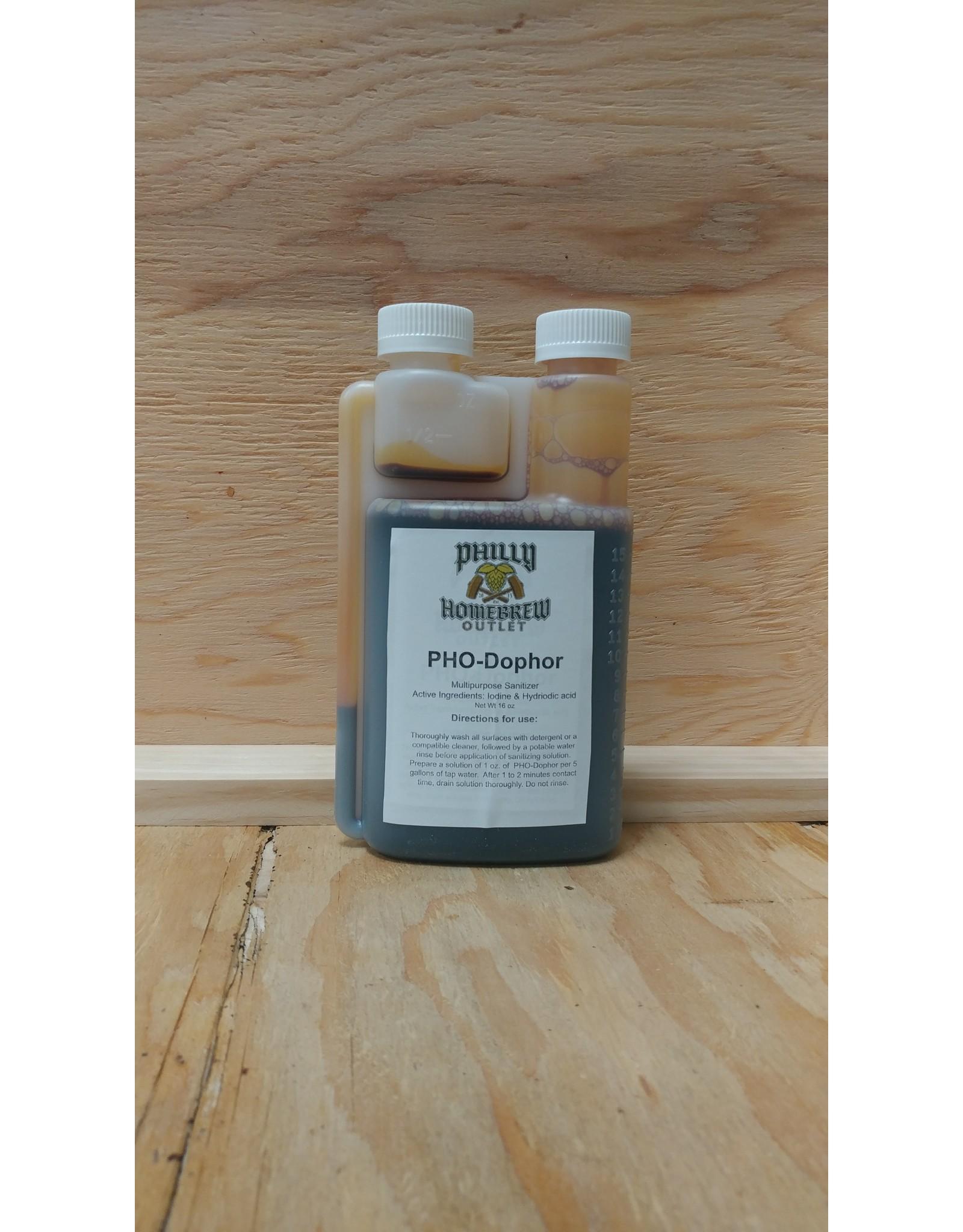 PHO PHO-Dophor Sanitizer 16oz  (PHODo)