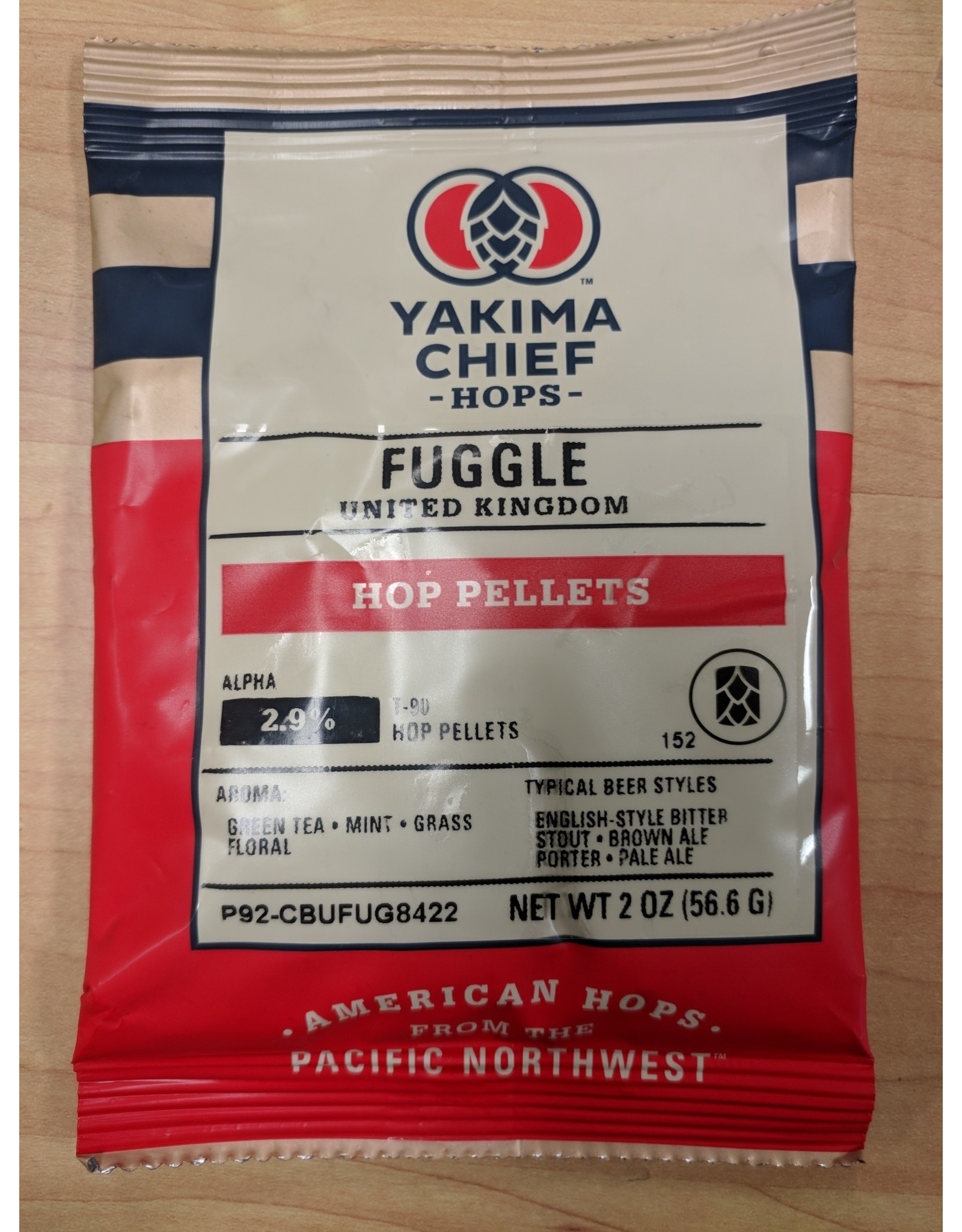 Fuggle (UK) Pellet Hops 2oz