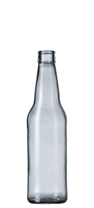 12 oz Clear  Beer Bottle with Crown Finish (Case of 24)