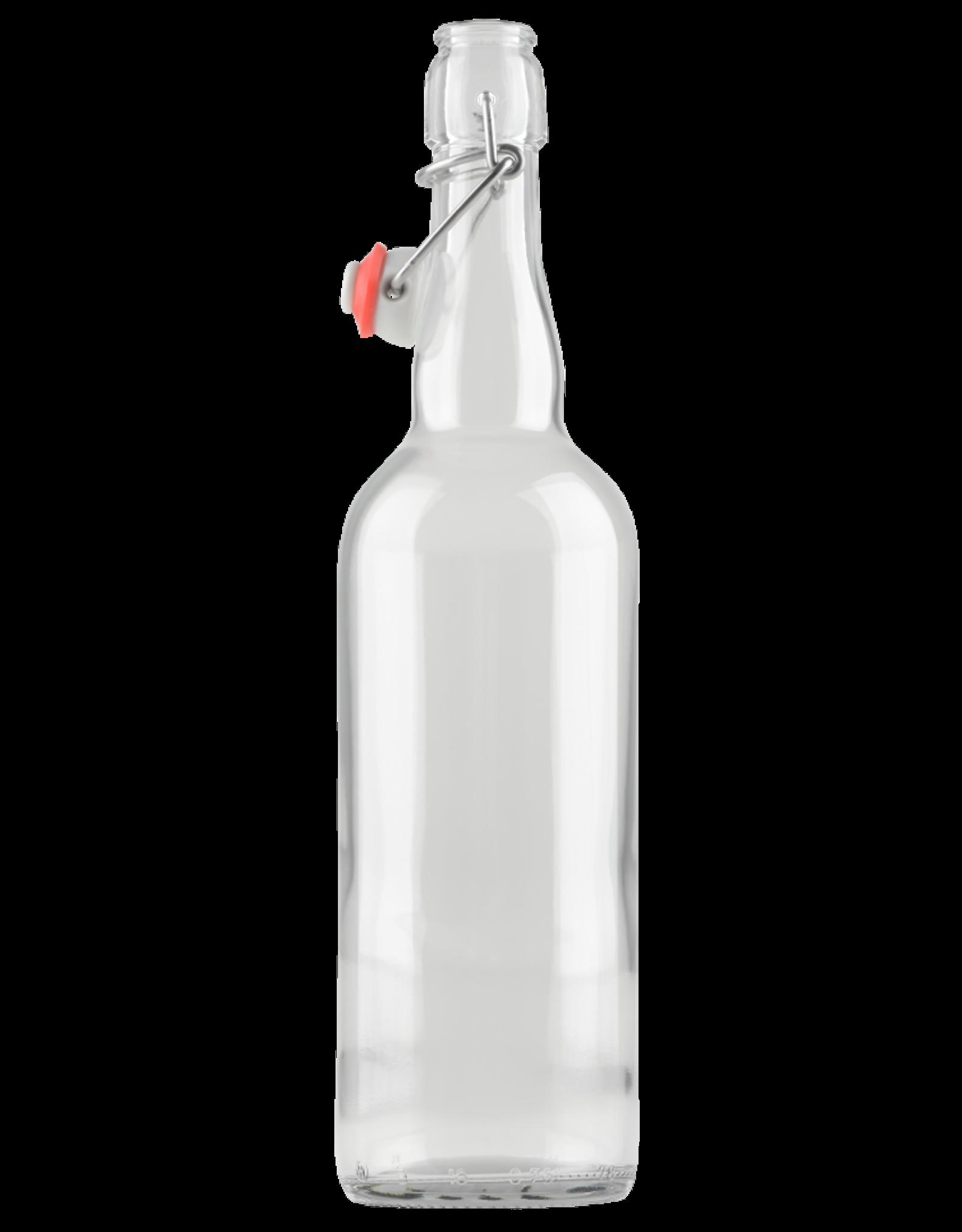 Clear Flip Top Bottles, 750 ml - Case/12