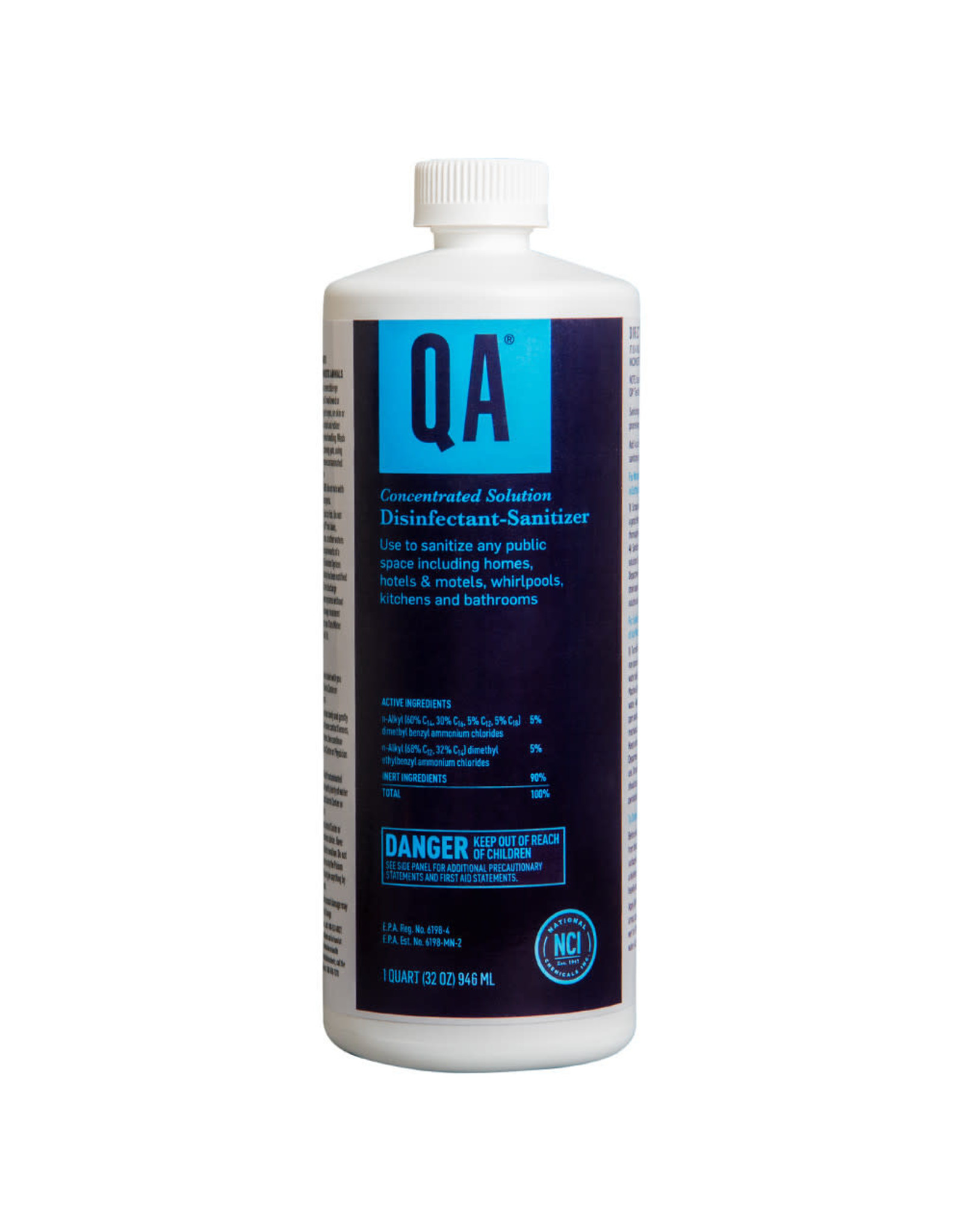 Pre-Diluted QA COVID Disinfectant CDC Approved, READY TO USE 32oz