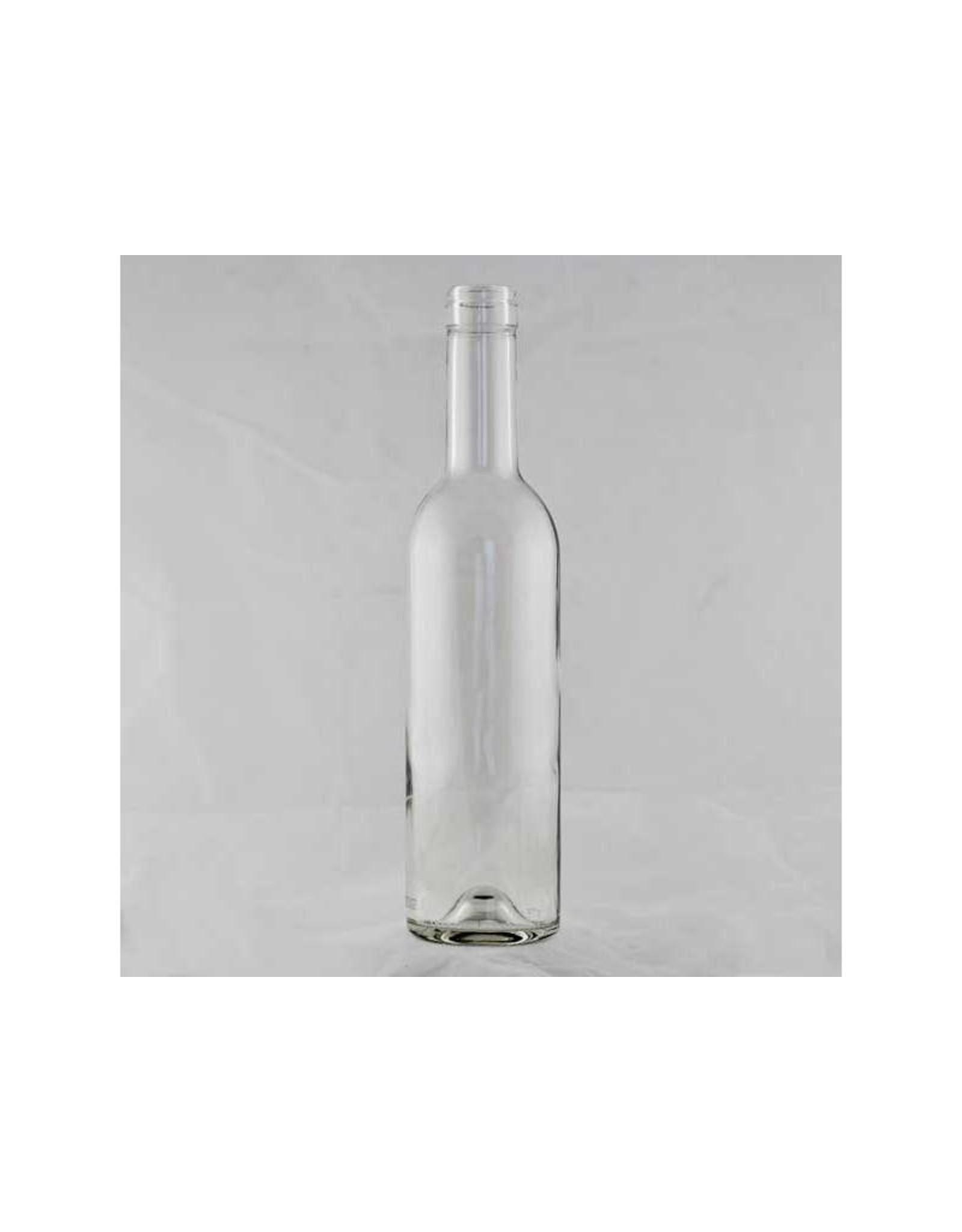 375 ML Clear Wine Bottle Bordeaux