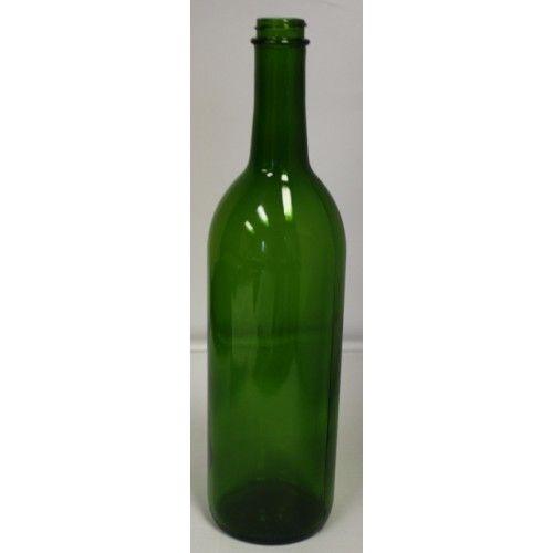 750 ML Green Screwtop Bottles