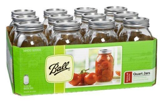 Ball 1 Quart (32 oz) Wide Mouth Jar Jars