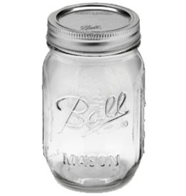 Ball 1 PInt (16 oz) Regular Mouth Jar Jars