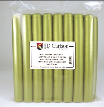 Metallic Green PVC Shrinks 30/Bag