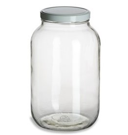 One Gallon Wide Mouth Glass Jar w/Lid (Single) 1 Gal 1gwjs