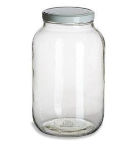 One Gallon Wide Mouth Glass Jar w/Lid (Single) 1 Gal 1gwjs