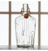 8oz Glass Flask Fliptop Single