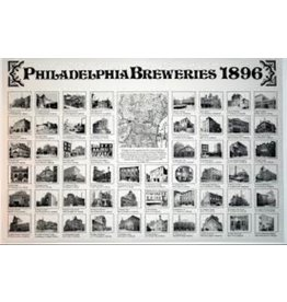 Philly Homebrew Outlet Philadelphia Breweries 1896 Poster Rich Wagner