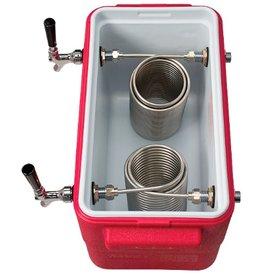Foxx Equipment Jockey box Coil Cooler, 2-fct 50' (red)