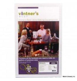 Vintner's Best Wine Equipment Kit W/Double Lever Corker