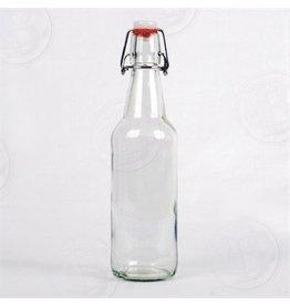 Clear Flip Top Bottles, 500 ml - Case/12