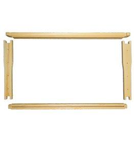 9-1/8'' Frame (Deep) Wedge Top/Divided Bottom