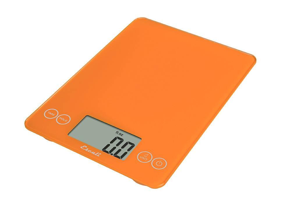 Escali Arti Digital Glass Scale - Overly Orange