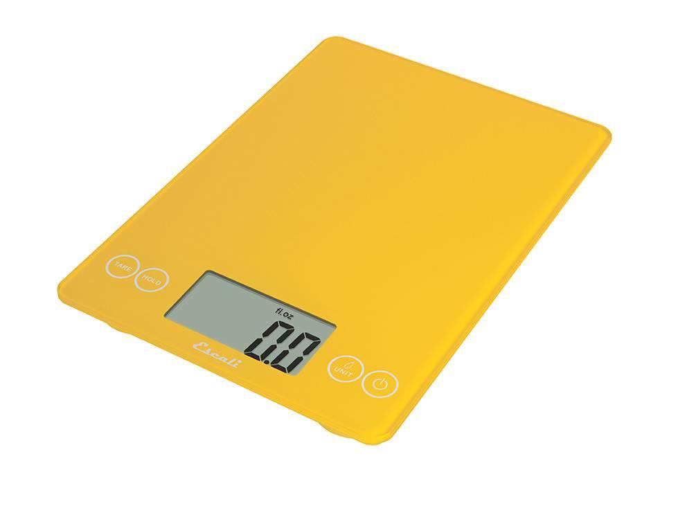 Escali Arti Digital Glass Scale - Solar Yellow