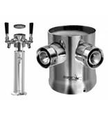 2 Shank Expansion Kit 3'' Column Tower - Krome