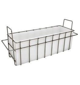 White Silicone Soap Mold w/ Stainless Steel Stackable Basket