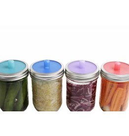 Pickle Pipe Wide Mouth - Fermentation Airlock 4 Pack