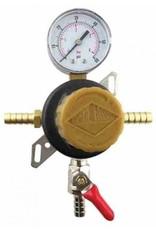 Taprite Regulator, Pass Thru Secondary w/ 60# Gauge, 3/8b Shutoff & 3/8B
