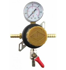 Taprite Regulator, Pass Thru Secondary w/ 60# Gauge, 5/16b Shutoff & 5/16B