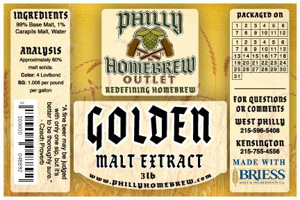 PHO PHO 3lb Golden Light LME Malt Extract