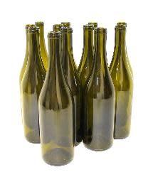 750 ML Champagne Green Punted Burgundy Bottles 12/Case